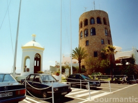 Puerto Banús Spain - Tower and Capilla, Virgen del Carmen