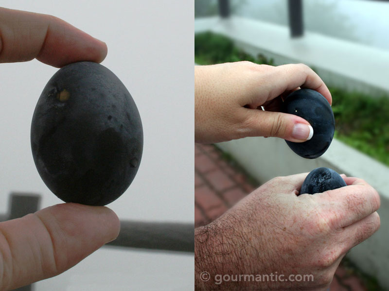 Owakudani black eggs