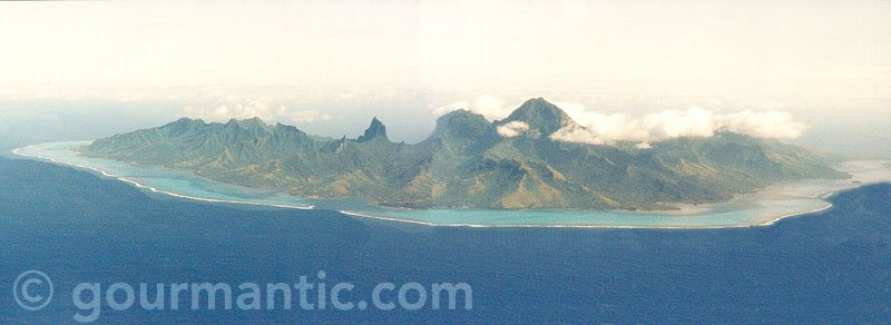Aerial view of Moorea, Tahiti