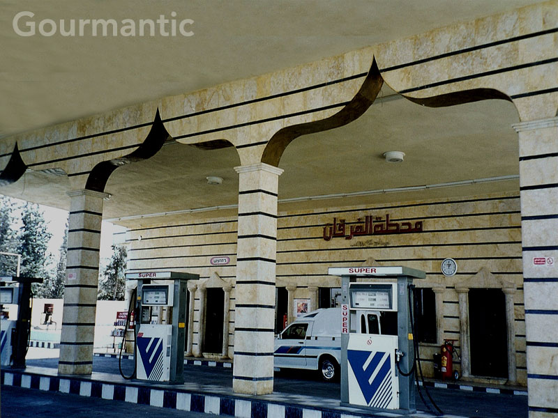 Petrol station near Aleppo