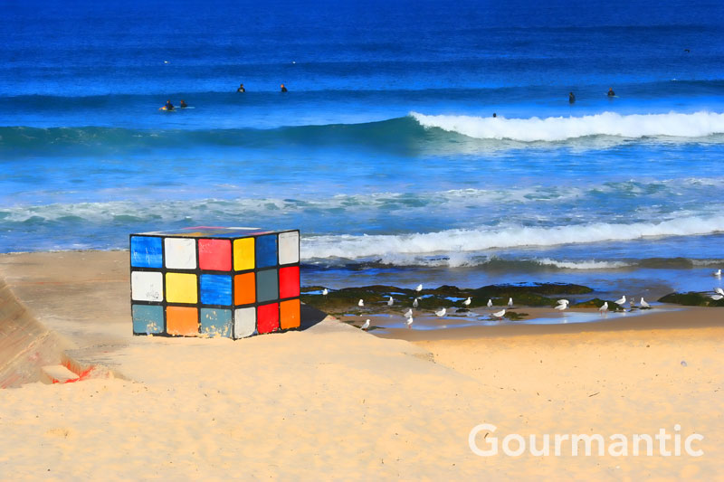 Rubik's Cube at Maroubra Beach