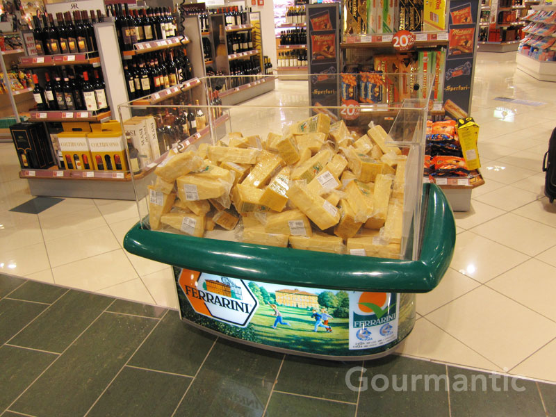 Duty free Parmesan cheese