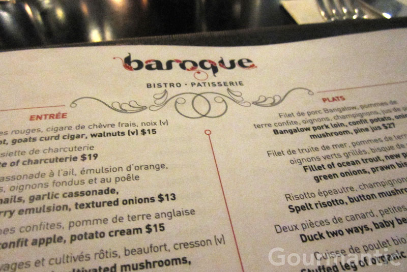 Baroque Bistro - The Rocks