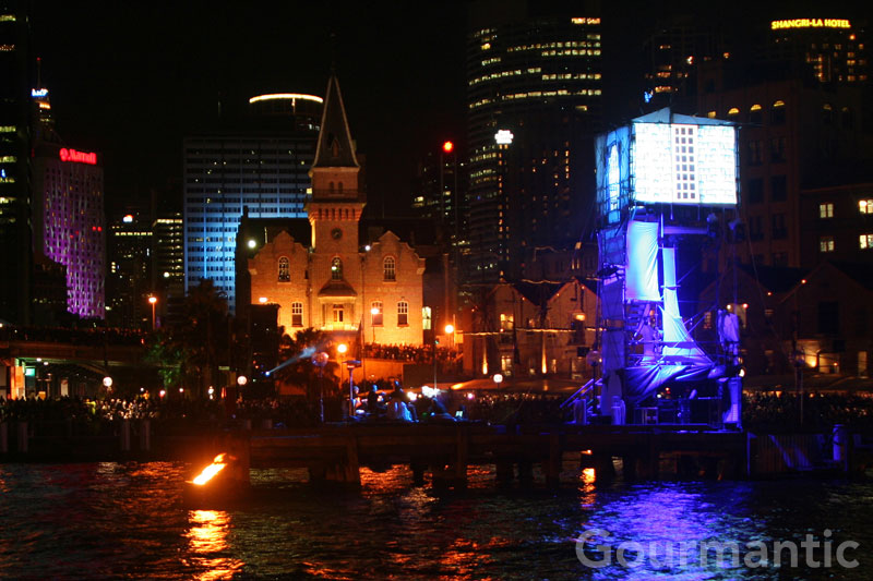 Vivid Sydney - The Rocks Fire Water Show