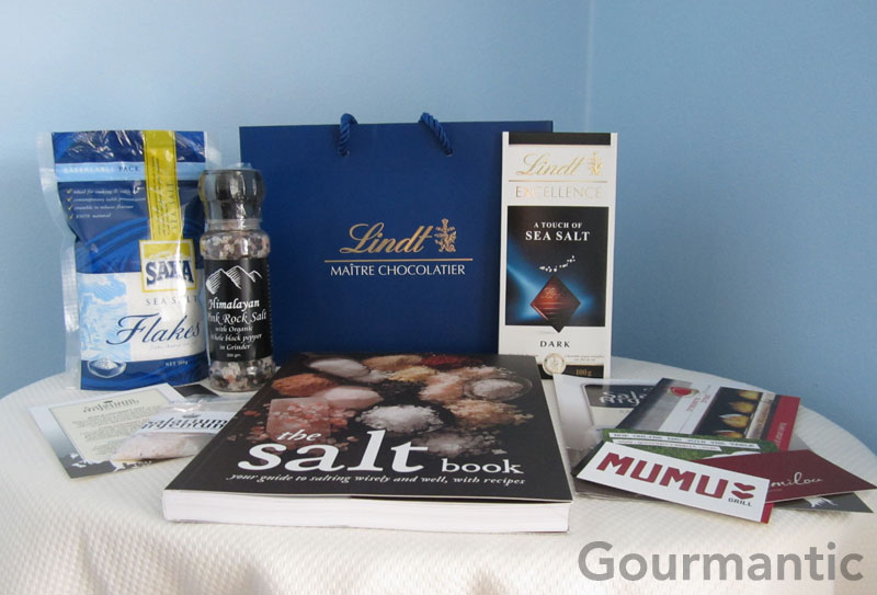 The Salt Book goodies bag