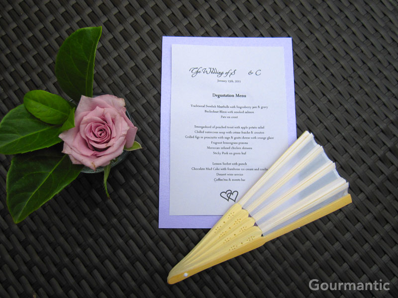 Wedding Degustation Menu