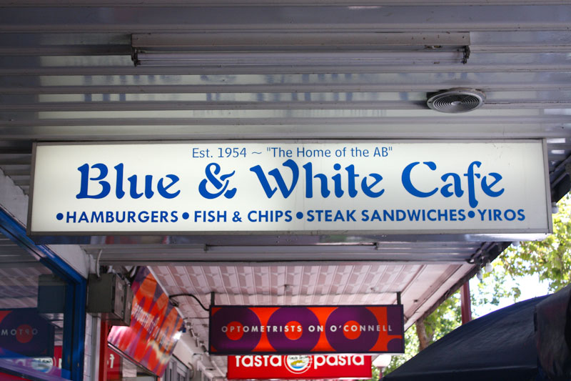 The AB at Blue & White Café