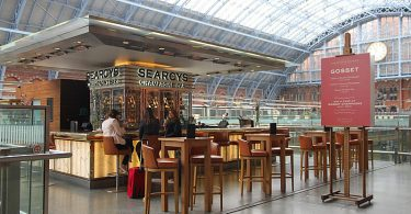 Searcys Champagne Bar, St Pancras International, London