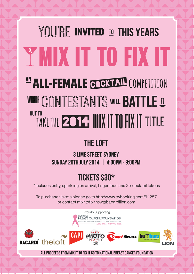What S On Mix It To Fix It All Female Cocktail