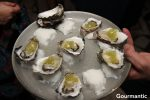 Wapengo rocks wild organic oysters |gin and cucumber jelly