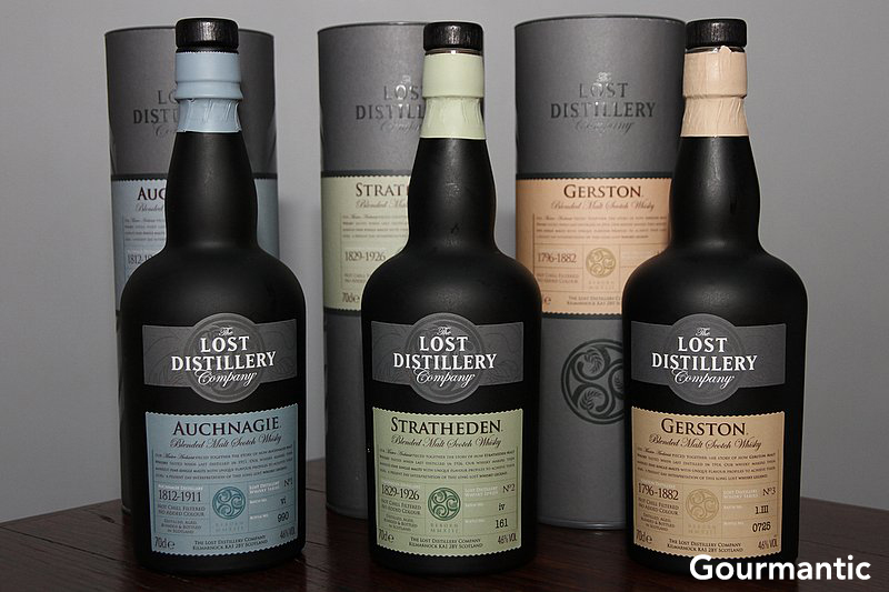 The Lost Distillery Auchnagie, Stratheden & Gerston Whisky