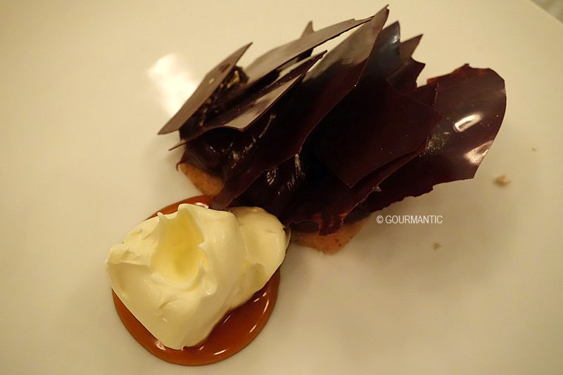Chocolate Tart, Eucalyptus, Cream