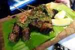 Beef Skewers in Chimmichurri Dressing