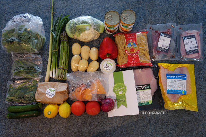 Unboxing Youtube Meal Kit Delivery Service Hellofresh