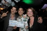 Kenny Soetomo, Winner of Cocktail Connoisseur with Justin Strzadala (L) and Justine Millsom (R)