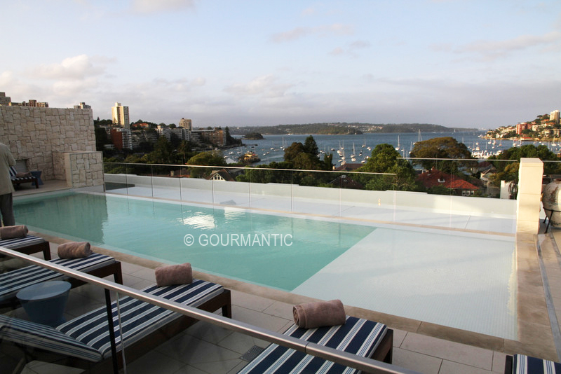 Rooftop Pool & Lounge InterContinental Sydney Double Bay - Gourmantic
