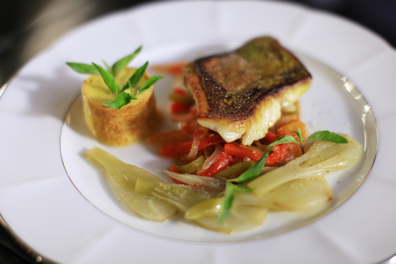 Pan fried red snapper served with piperade and aioli sauce - Michel Roux - DANANG