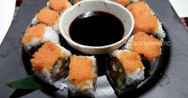 Orange Maki - salmon and avocado roll