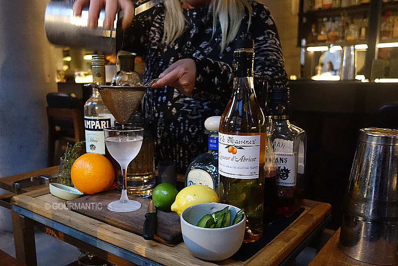 Interactive Cocktail Trolley